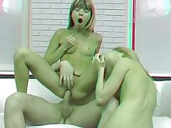 Porno Films 3 dimensional   Bi teens in anal invasion threesome