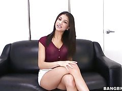 Veronica Rodriguez delights herself with a dildo