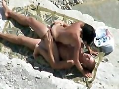 Spycam Tapes Pair Nailing On Beach