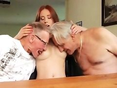Babysitter threesome caught masterbating Minnie Manga eats b