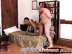 Mature priest ravages a young ebony babe