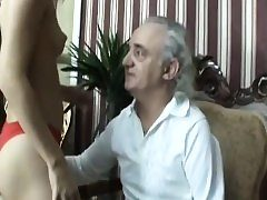 Amputee Old Guy Gets Successful With Blonde Teen