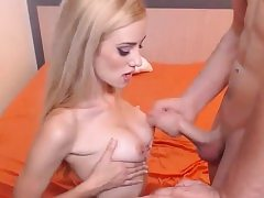 Blonde get anal fuck-fest front the webcam