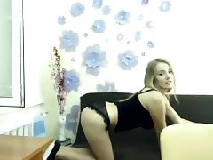 Teen Blond Underwear Dildo Solo