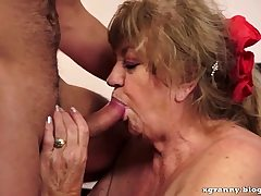 Busty grandmother sex