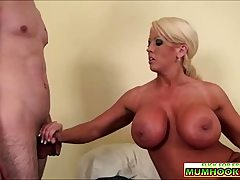 Huge-titted mommy wants pleasure gel from the youthful cock
