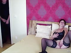 German Sandy-haired Mommy Caught by Step-Son and Entice to Plumb