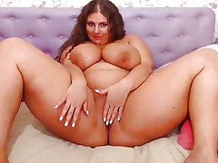 Chubby Cam Girl with Gigantic Tits Bouncing (no sound)