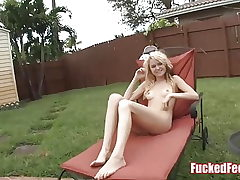 Cute Blond Teen Chloe Foster Gives First-ever Footjob for Pummeled