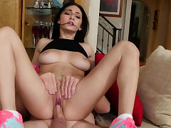 Light-haired nubile yam-sized tits gangbang and young mammary Dukke the