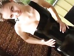 Nasty hj from a thin horny princess rubbing his cock swift