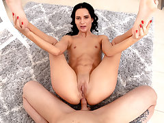 Teenage black-haired very first assfuck bang-out
